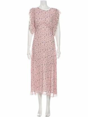 LoveShackFancy Silk Long Dress w/ Tags Pink