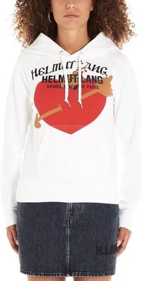 Helmut Lang Heart Logo Print Hoodie
