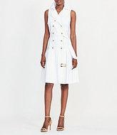 Lauren Ralph Lauren Belted Stretch Cotton Trench Dress