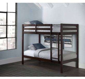 Hillsdale Furniture Hillsdale Caspian Wood Bunk Bed Twin Over Twin, Chocolate