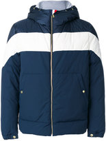 Moncler Gamme Bleu hooded bomber jacket - men - Cotton/Feather Down/Nylon/Cupro - 1