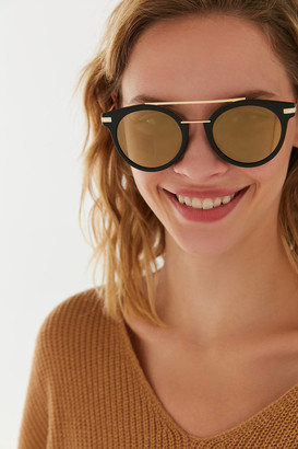 Urban Outfitters Sydney Double Brow Bar Round Sunglasses