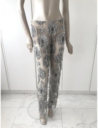 Gianfranco Ferre Silver Trousers for Women