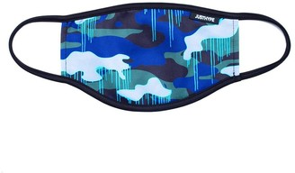 Hype Childrens Camo Drips Face Mask - Blue