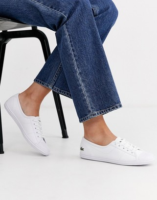 Lacoste Ziane leather trainers in white
