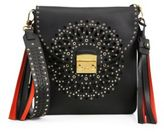 Furla Loop Perforated Leather Shoulder Bag