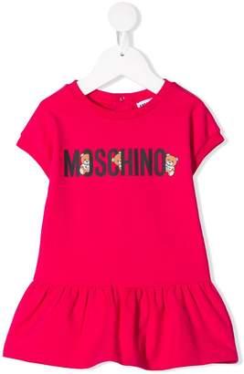 MOSCHINO BAMBINO logo print T-shirt dress