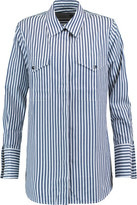 Eight Striped Cotton-Poplin Shirt