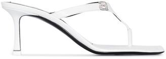Alexander Wang Ivy 65 crystal logo sandals