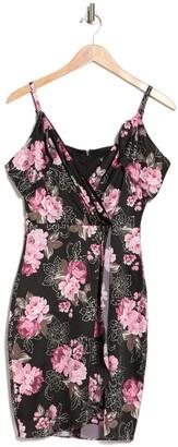 GUESS Floral Faux Wrap Dress