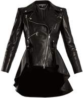 Alexander McQueen Waterfall-hem leather jacket