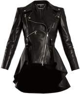 Alexander McQueen Waterfall-hem leather jacket