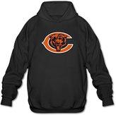 Parisama-oran-Adults Men's Chicago Bears Football Logo Hoodies L