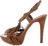 Henry Beguelin Multistrap Fringe Sandals