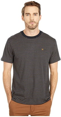 Brixton Hilt Short Sleeve Knit (Black/Honey/Heather Grey) Men's Clothing