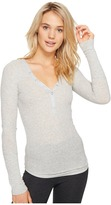 PJ Salvage Just Peachy Ribbed Long Sleeve Henley Women's Long Sleeve Pullover