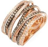 Effy Women's 14K Rose Gold Diamond and Espresso Diamond Ring