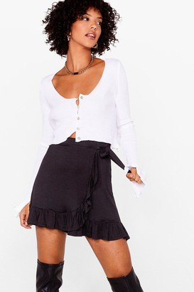 Nasty Gal Womens Frill of the Night Ruffle Mini Skirt - Black - XS, Black