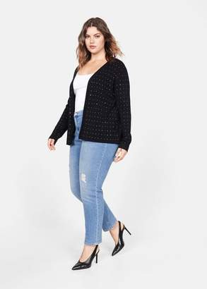 MANGO Crystal applique cardigan
