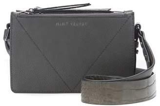 Mint Velvet Laura Grey Croc Crossbody Bag