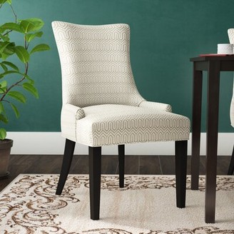 Alcott Hill Geo Dining Chair Upholstery Color: Gray Blue