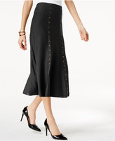 NY Collection Studded Midi Sweater Skirt