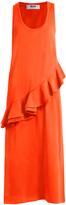 MSGM Asymmetric-ruffle sleeveless jersey dress