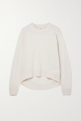 Tibi Convertible Cutout Cashmere Sweater - Beige