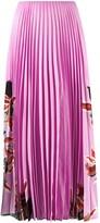 Valentino Floral Print Pleated Skirt
