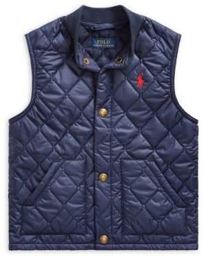 Ralph Lauren Childrenswear Little Boy's Quilted Water-Repellent Vest