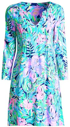 Lilly Pulitzer Aubrey Tropical Floral-Print Shift Dress