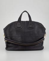 Givenchy Nightingale Zanzi Large Leather Bag, Black