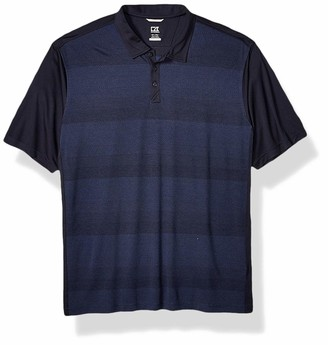 Cutter & Buck Men's Moisture Wicking Drytec Crescent Jersey Print Polo Shirt