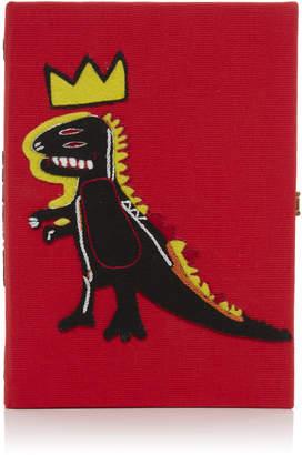 Olympia Le-Tan Olympia Le Tan Basquiat Dinosaur Book Clutch