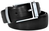 Swiss Gear Men's Genuine Leather Reversible Buckle Twist Belt - Black
