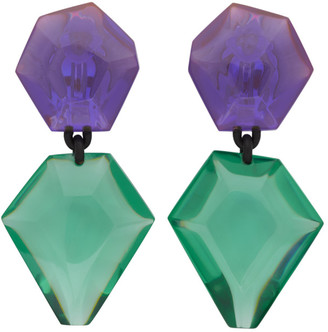 Monies Jewellery Purple and Green Riley Earrings