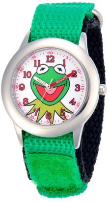 Disney Boy' Diney Kermit tainle teel Watch - Green