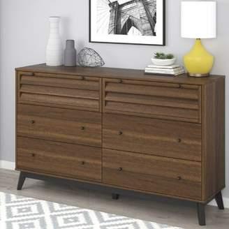 Dover 6 Drawer Double Dresser Trent Austin Design Color: Walnut