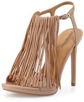 KENDALL + KYLIE Aries Leather Fringe Sandal, Light Natural