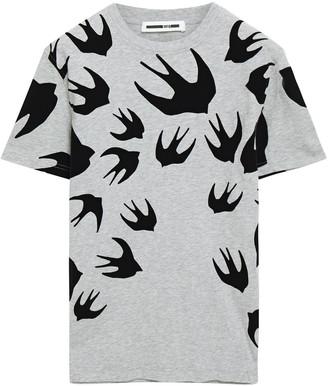 McQ Flocked Cotton-jersey T-shirt