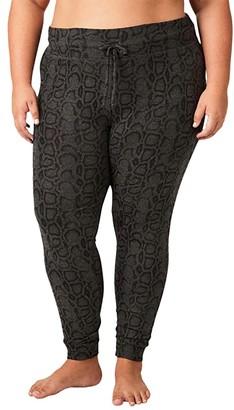 Beyond Yoga Plus Size Lounge Around Bopo Midi Joggers (Black Wild Cat) Women's Casual Pants