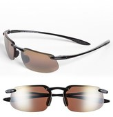 Maui Jim Men's 'Kanaha - Polarizedplus2' 62Mm Sunglasses - Gloss Black/ Bronze