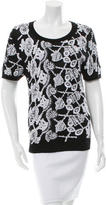 Prabal Gurung Sequined Cashmere Top