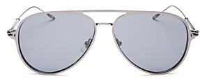 Montblanc Men's Brow Bar Aviator Sunglasses, 59mm