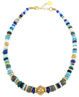 Gas Bijoux Aloha 24K Goldplated & Mixed-Stone Beaded Choker Necklace
