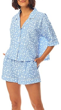 Papinelle Floral-Print Cropped Top & Shorts Pajamas Set