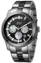 JBW Men's JB-6218-A Delano Japanese Movement Stainless Steel Real Diamond Watch - Silver