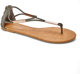 Wet Seal Olive Metallic-Accent Sandal