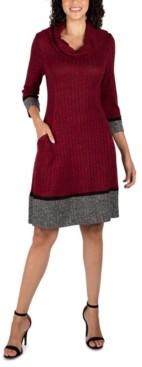 Robbie Bee Petite Cowlneck Sweater Dress