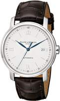 Baume & Mercier Baume Mercier Men's Classima Automatic Leather Strap Watch Silver A8791